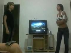 Wrestling: 2 Brazilian Legal Age Teenager Babes