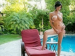 Diana Prince in Poolside Masturbation Scene