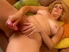 Sexy Blonde MILF Dana Devine Toys Pussy and Gets Fucked