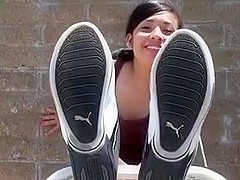 I show my immature feet in this video
