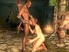 Perils of escaped Skyrim slavegirl 13