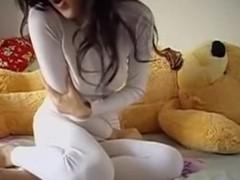Legal Age Teenager Rides A Teddybear