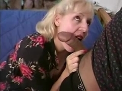 Mature plump pianoteacher gets fucked by 2 guys