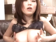 Fabulous Japanese chick Rio Hamasaki in Amazing Stockings/Pansuto JAV clip