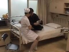 Kinky horny nurse enjoys hardcore Japanese fucking