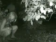 Amateur blonde chick pissing voyeur video