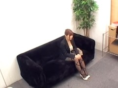 Blowjob and fuck on spy cam for an awesome Jap babe