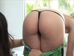 Best pornstars Kylie Reese and Jessica Bangkok in horny creampie, asian xxx clip