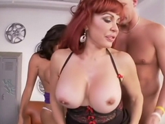 Incredible pornstars Tara Holiday and Sexy Vanessa in crazy redhead, brunette porn video