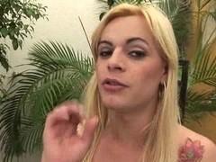 Randy Blonde Dildoing Butt & Whacking Off