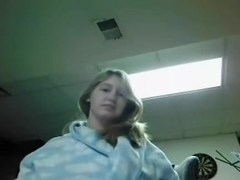 Horny immature naked tease on webcam