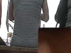 Jaw-Dropping view of belt upskirt