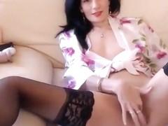 Sexyaylin4u: brunette in black stockings