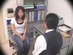 Busty Jap teen screwed in voyeur Japanese hardcore video
