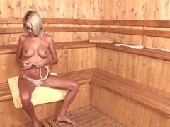 Exotic pornstar Jasmine Rouge in crazy blonde, masturbation adult scene