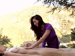 Amazing pornstars Ariella Ferrera, Belle Knox in Crazy Lesbian, Cunnilingus adult movie