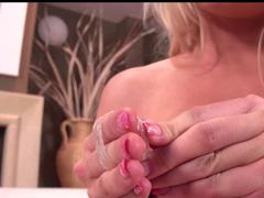 Big Titties Blonde pussy fingering