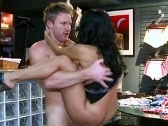 MILF gets hunted in the underwear store