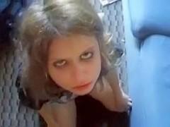 Teen gf taste her anal juice on cock