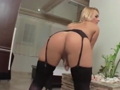 Blonde tart gets bareback sex