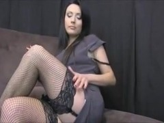 Slut posing in stocking online