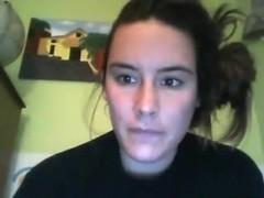Busty italian girl has some cybersex