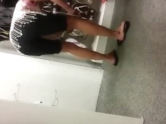 rich mature, tight shorts, bending overFEET