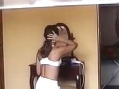 Peeping at 2 Brazilian Girls Getting Dressed - Voyeur
