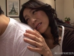Hot milf Marina Matsumoto enjoys her horny guy