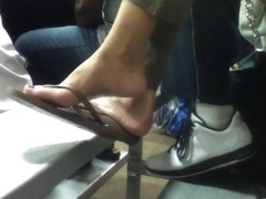 Candid Teen Flip Flop Dangle Shoeplay Feet