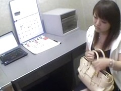 Ugly Japanese babe sucks dick in spy cam Japanese sex video