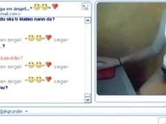 Swedish girl has cybersex with her bf on msn