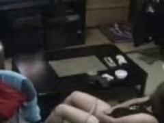 My mum home alone watching a porno and masturbating