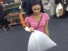 Brunette cutie got banged in the pawnshop to earn extra cash