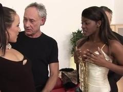 Hottest pornstars Jasmine Webb and Lucy Love in horny interracial, black and ebony sex video