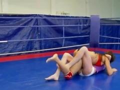 Wrestling between Angelica Heart and Denisa Doll