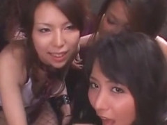 Fabulous Japanese chick Risa Murakami, Rio Hamasaki, Yuka Osawa in Amazing Group Sex, College/Gaku.