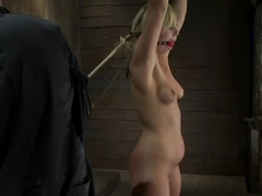 Califorina Blond bound spreadPulled to the breaking point and made to cum HARD!