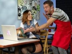 Xander Corvus & Silvia Rubi in In Spain It's OK Scene