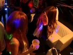 Horny pornstars gets fucked in a club