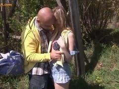 Scoolgirl Amanda had sex with Her Boyfriend
