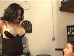 Guy and tranny mutual oral caress