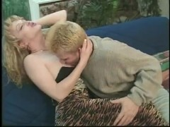 Kinky Blonde Shemale In Stockings Gets Ass Drilled Hard