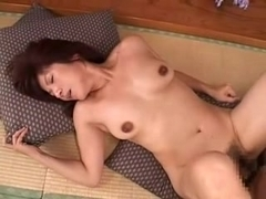 Porn video with a mature Japanese bitch