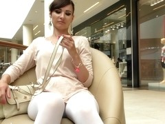Jeny Smith white pantyhose spycam