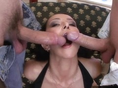 Julia begs for two dicks at once