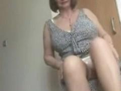 Upskirt Stripshow Hirsute Granny