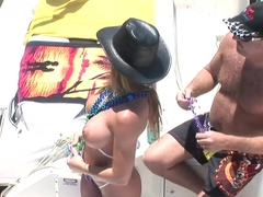 Horny pornstar in crazy striptease, blonde adult scene