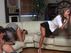 Exotic pornstars Kayla Carrera and Sarah Jessie in hottest big tits, blonde sex scene