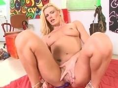 Darryl Hanah masturbates her pussy and ass hole